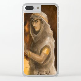 Gold and Clay Clear iPhone Case