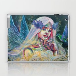 Forest fairy digital print, Fantasy forest fairy poster, Beautiful fairy Wall print, Magical forest Laptop & iPad Skin