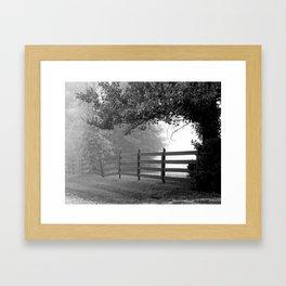 Fog At Dawn Framed Art Print