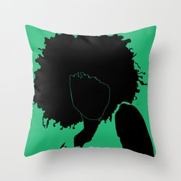 lime green Throw Pillow