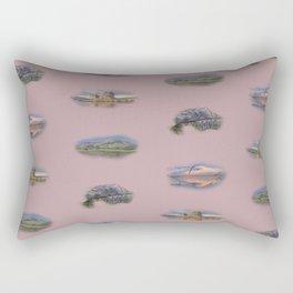 Highland Landmarks in pink Rectangular Pillow