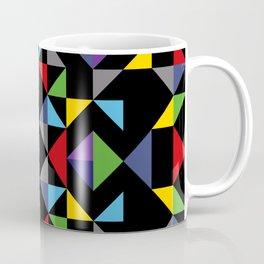 Geometric Pattern Colorful, black background. Good vibes by Cokowo. Coffee Mug