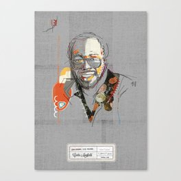 Curtis mayfield Canvas Print