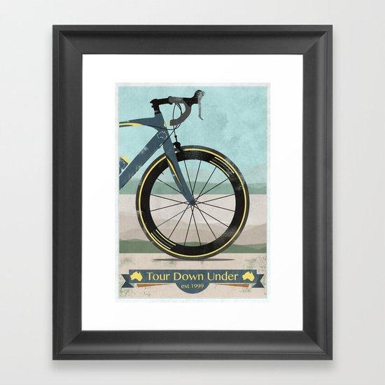 Tour Down Under Bike Race Framed Art Print