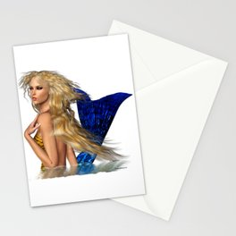 Mermaid Arising from the Sea Stationery Cards