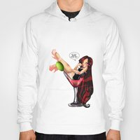 drink Hoodies featuring Drink by Lucy Fidelis