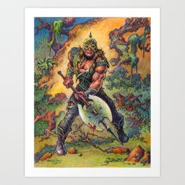 The Darkslayer (Venir) - Full color Forest Scene Art Print