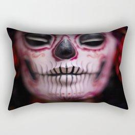 Midnight Harvest Muertita Detail Rectangular Pillow