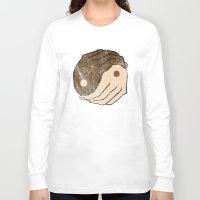 ying yang Long Sleeve T-shirts featuring Ying Yang by Bear Bone