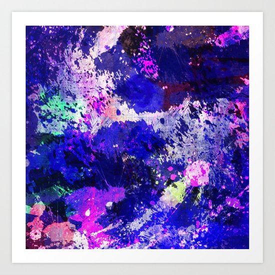 Freedom - Abstract In Blue And Purple Art Print