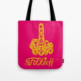 Folk Off Tote Bag
