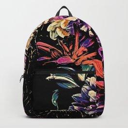 Autumn Dahlia Floral Bouquet Backpack