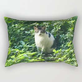 Cat in the Leaves Rectangular Pillow