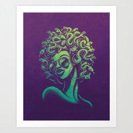 Funky Medusa Art Print
