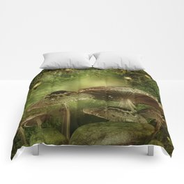 Enchanted Mushrooms Comforters