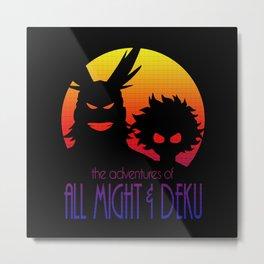 Allmight & Deku Adventures Metal Print
