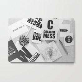 Creative Mess Metal Print