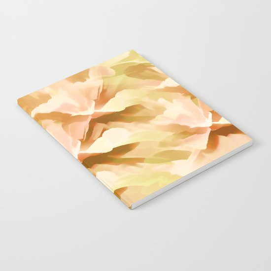 Shades Of Orange Floral Kaleidoscope Abstract Notebook