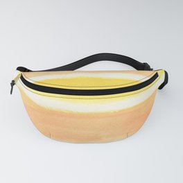 Orange Striped Abstract Fanny Pack