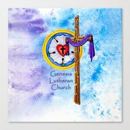 Lutheran Christian Image Canvas Print