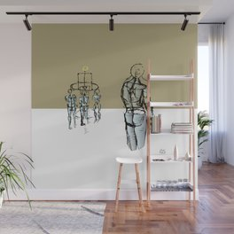 Glass people Wall Mural