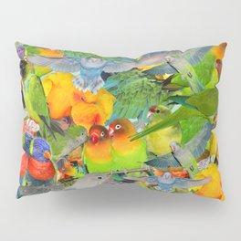 Parrots, parrots, parrots Pillow Sham