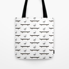 Skateboard and Helmet Pattern Tote Bag