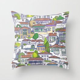MUGLA OLDTOWN  Throw Pillow