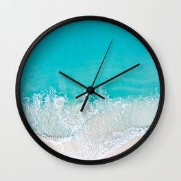 AERIAL PHOTO OF BEACH Wall Clock