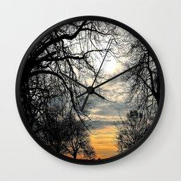 Calm Before An Evening Storm Wall Clock