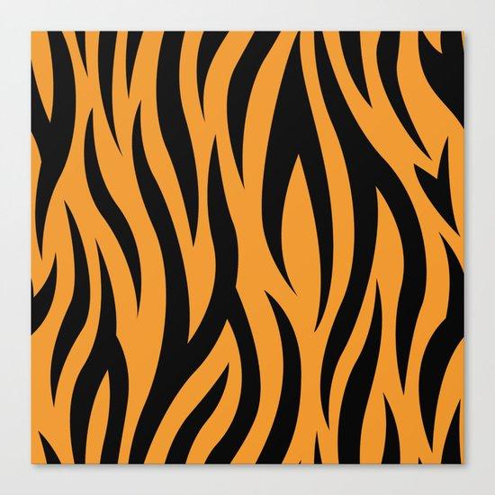 Tiger Stripes Pattern - Orange, Black Canvas Print