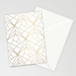 Polygonal Pattern Stationery Cards