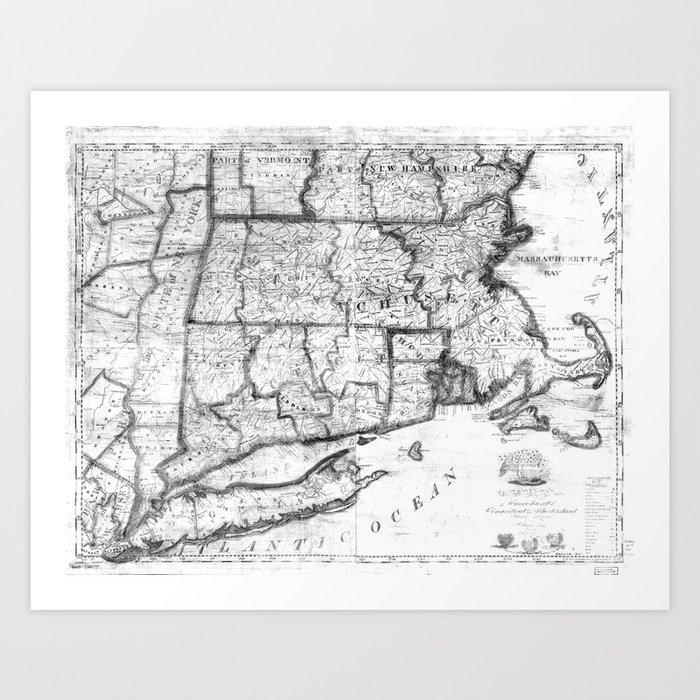 Blank Map Of New England States - Berkshireregion