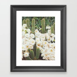 Cactus and Flowers Framed Art Print