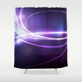 Nebula Abstract Glow Shower Curtain
