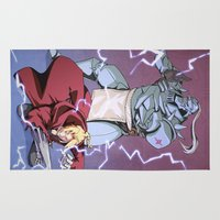 fullmetal Area & Throw Rugs featuring Fullmetal Brothers by The Sketchy Corner - Ian Moir
