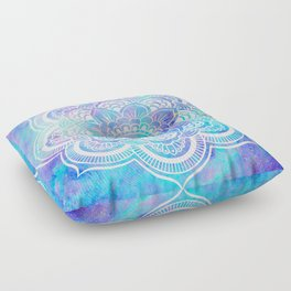 Mandala Pink Lavender Aqua Galaxy Space Floor Pillow