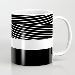 Black and white abstract striped pattern Coffee Mug