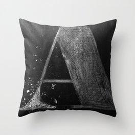 A Wood Throw Pillow