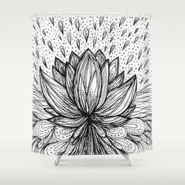 The Immortal Lotus Shower Curtain