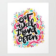 EAT & TRAVEL Art Print