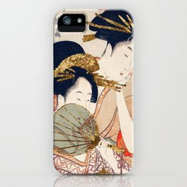 Vintage Traditional Women Illustration iPhone Case