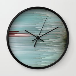 Planet Pixel Intersection Wall Clock