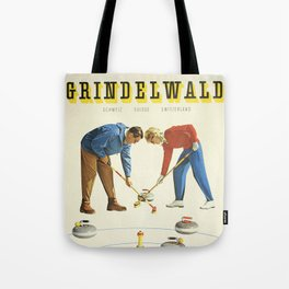 Grindelwald, Swiss Vintage Travel poster Tote Bag