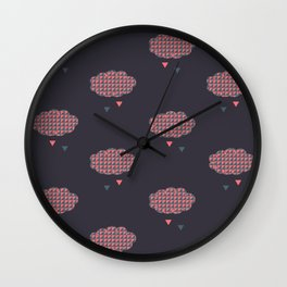Dcorail clouds  Wall Clock