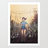 Everything I touch gets ruined Art Print