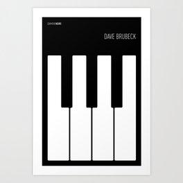 Jazz Dave Brubeck Art Print