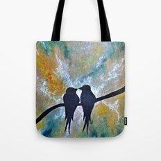 Valentines Love Birds Tote Bag