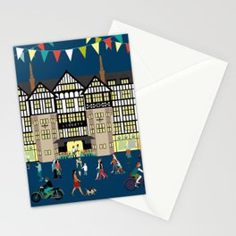 Art Print of Liberty of London Store - Night time Stationery Cards
