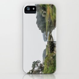 Early Autumn Fog on the Little River iPhone Case
